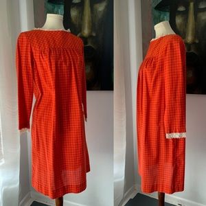 Vintage 70's Midi smock dress 9098
